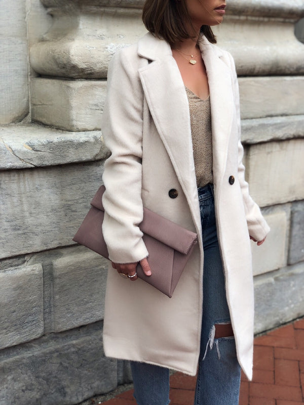 Chantal Textured Longline Coat- Cream-jacket-HYFVE-AMQN Boutique