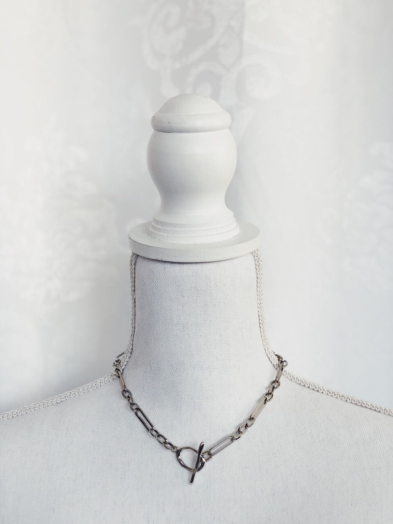Angelina Chain Necklace - Silver - amannequin - amannequin