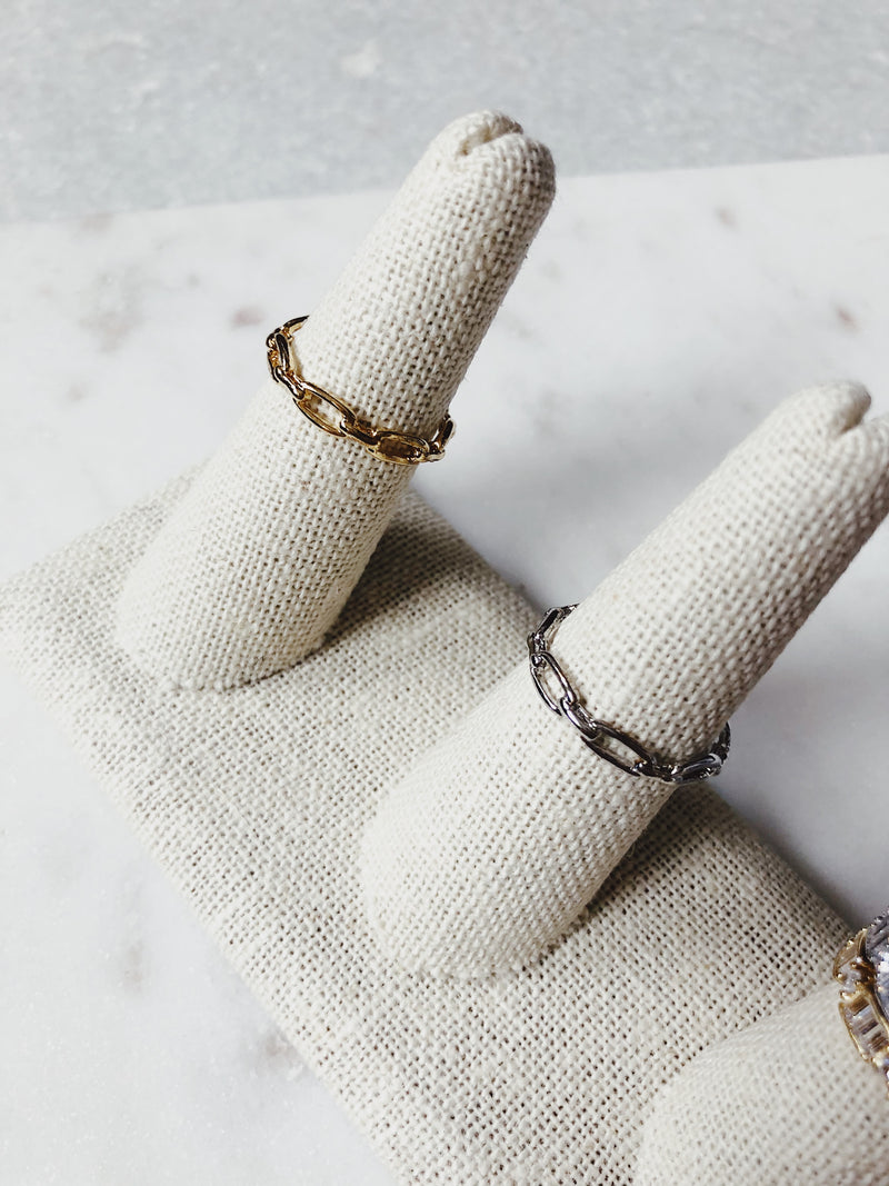 Secret Box Chain Link Ring - One Size Fits All - amannequin - amannequin