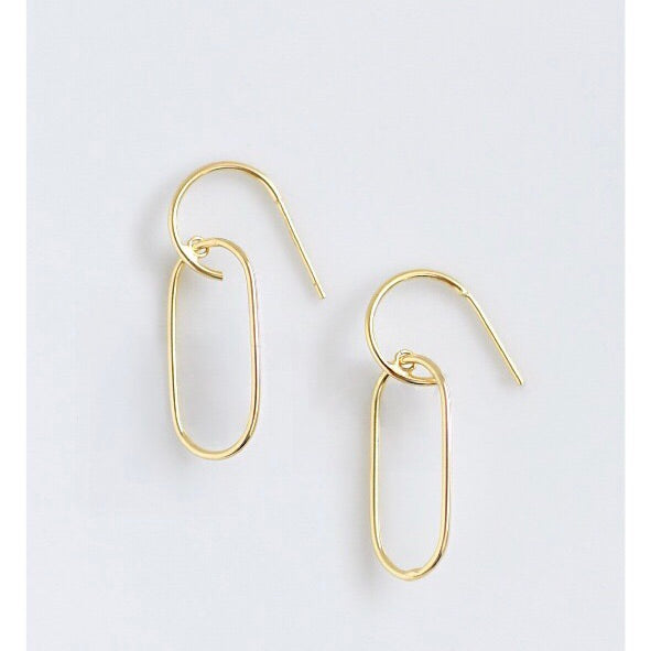 Danni Gold Chain Link Hoop Earrings - amannequin - amannequin
