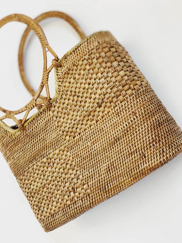 Bora Bora Rattan Beach Bag Tote by Street Level - amannequin - amannequin