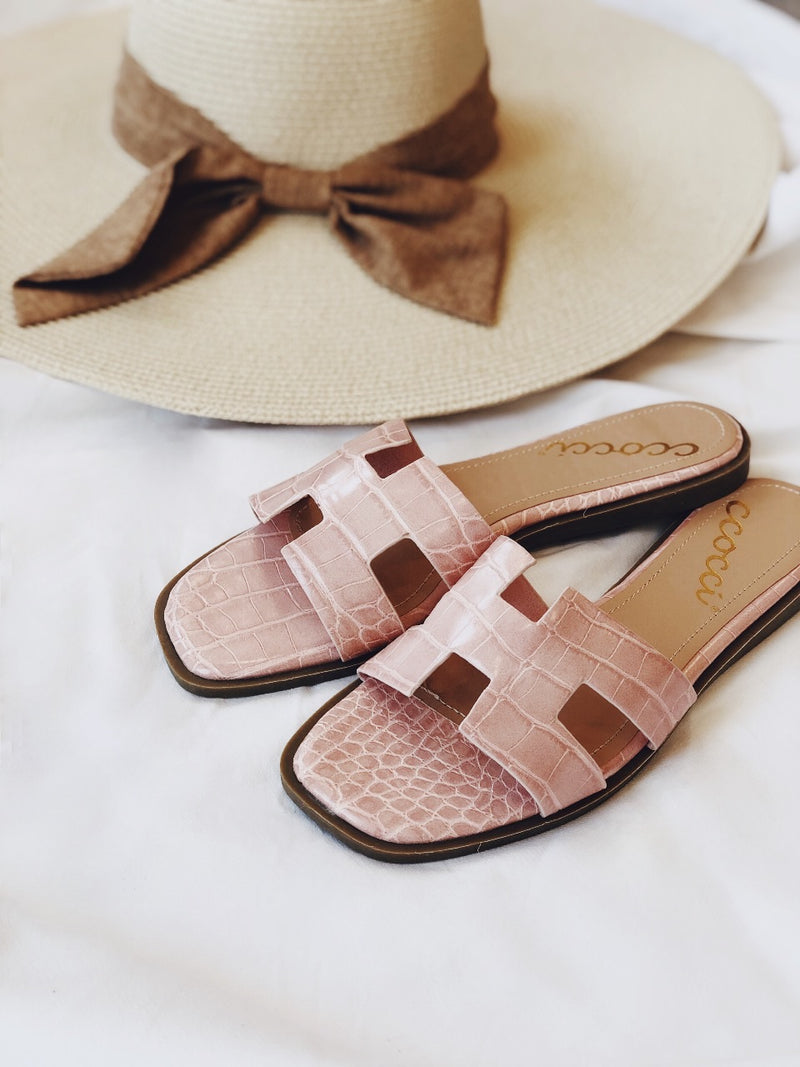 Avia Croc Slides Sandals - Blush