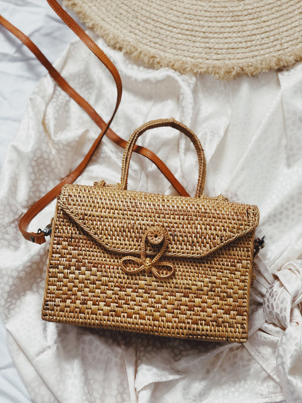 Maui Rattan Top Handle Crossbody Bag | Street Level | Womens | Bags