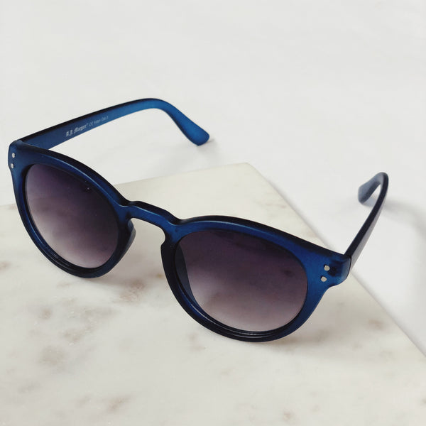 Pandora Matte Blue Round Sunglasses by AJ Morgan-sunnies-aj morgan-AMQN Boutique