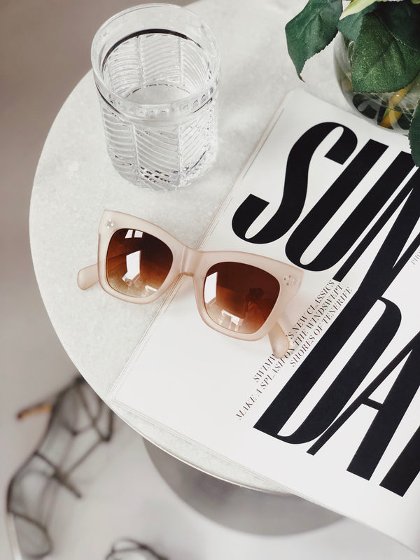Remy Nude Matte Lucite Oversized Sunglasses by AJ Morgan-sunnies-aj morgan-AMQN Boutique