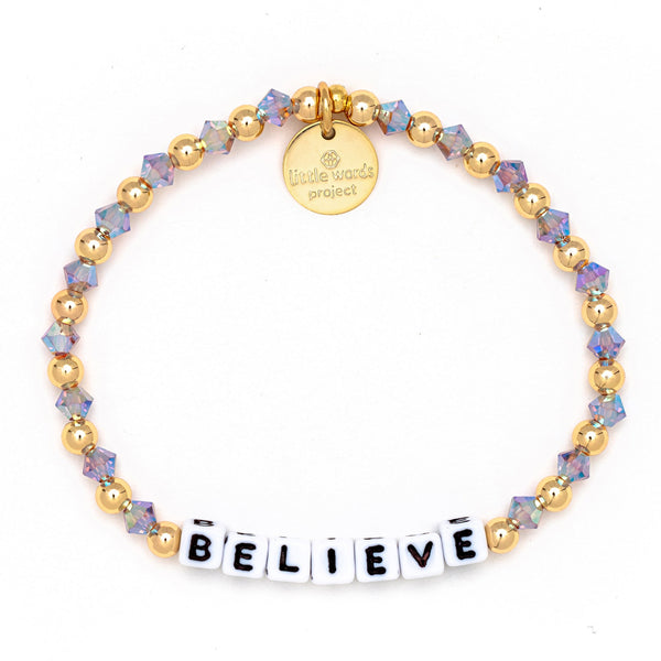 Believe Gold-Filled & Crystal Bracelet - Little Words Project