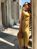 Dylan Mustard Yellow Button Front Jumpsuit - FU Pretty, amannequin - amannequin