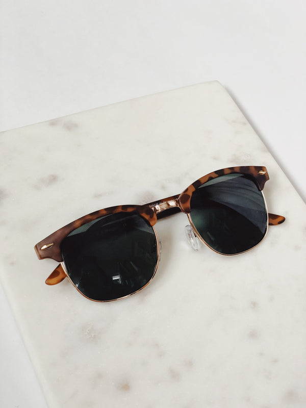 Gabby Matte Antique Brown Tortoise Retro Sunglasses by AJ Morgan-sunnies-aj morgan-AMQN Boutique