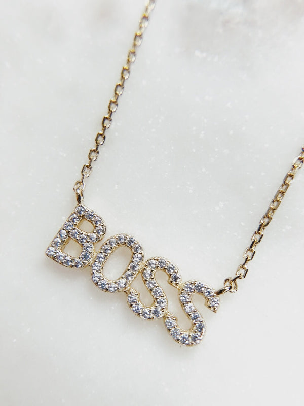 Boss CZ Necklace - amannequin - amannequin