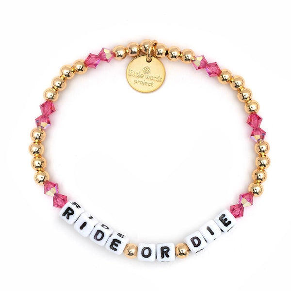 Ride or Die Gold-Filled & Crystal Bracelet - Little Words Project