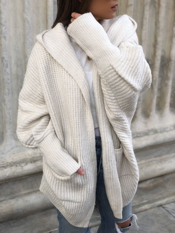 Willow Hoodie Cardigan Sweater - Cream-Sweater-listicle-AMQN Boutique