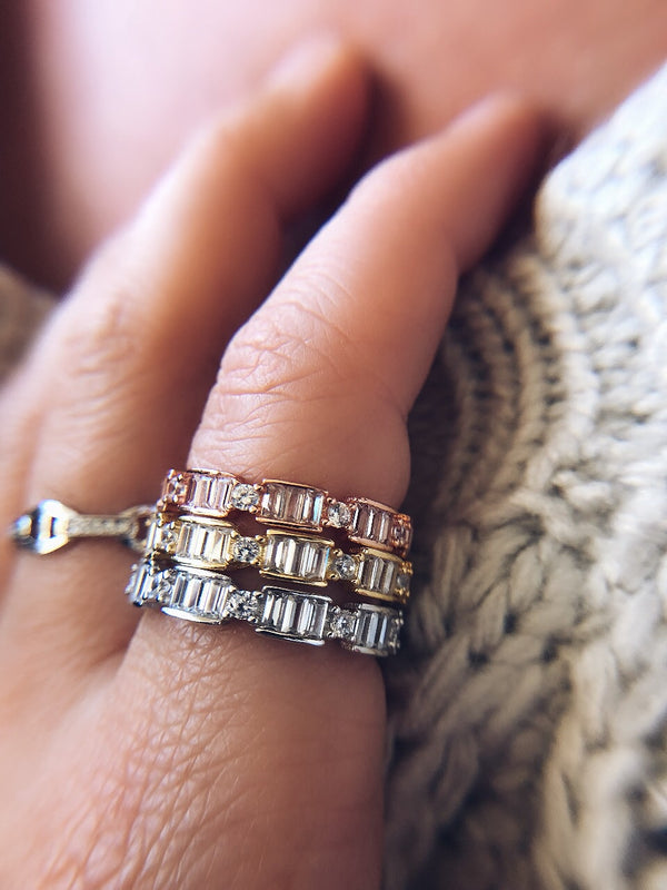 Daeja Baguette Ring - Sterling Silver-Hand ring-byzade-AMQN Boutique