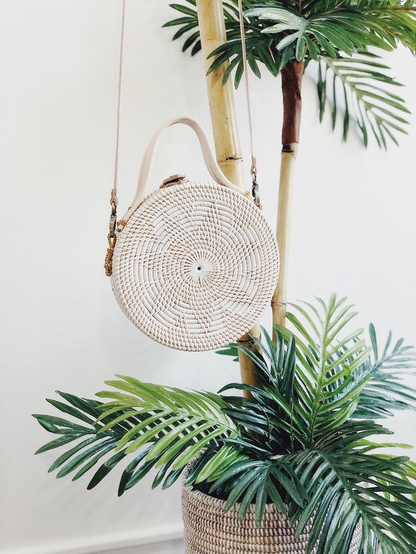 Villas Rattan Circle Crossbody Bag by Street Level-Handbag-street level-AMQN Boutique