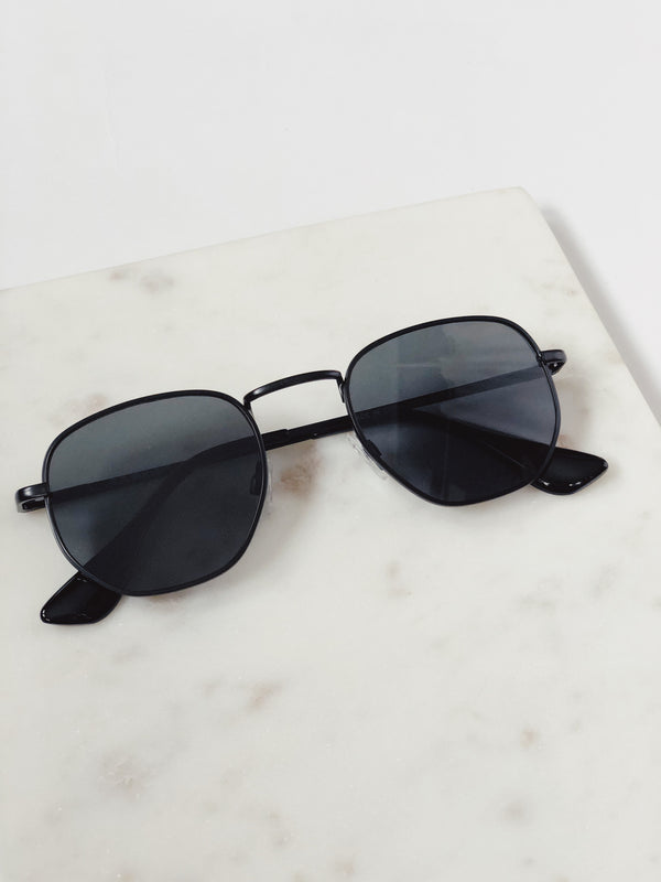 Indio Black Matte Aviator Sunglasses by AJ Morgan-sunnies-aj morgan-AMQN Boutique