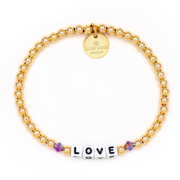 Love Gold-Filled & Crystal Bracelet - Little Words Project