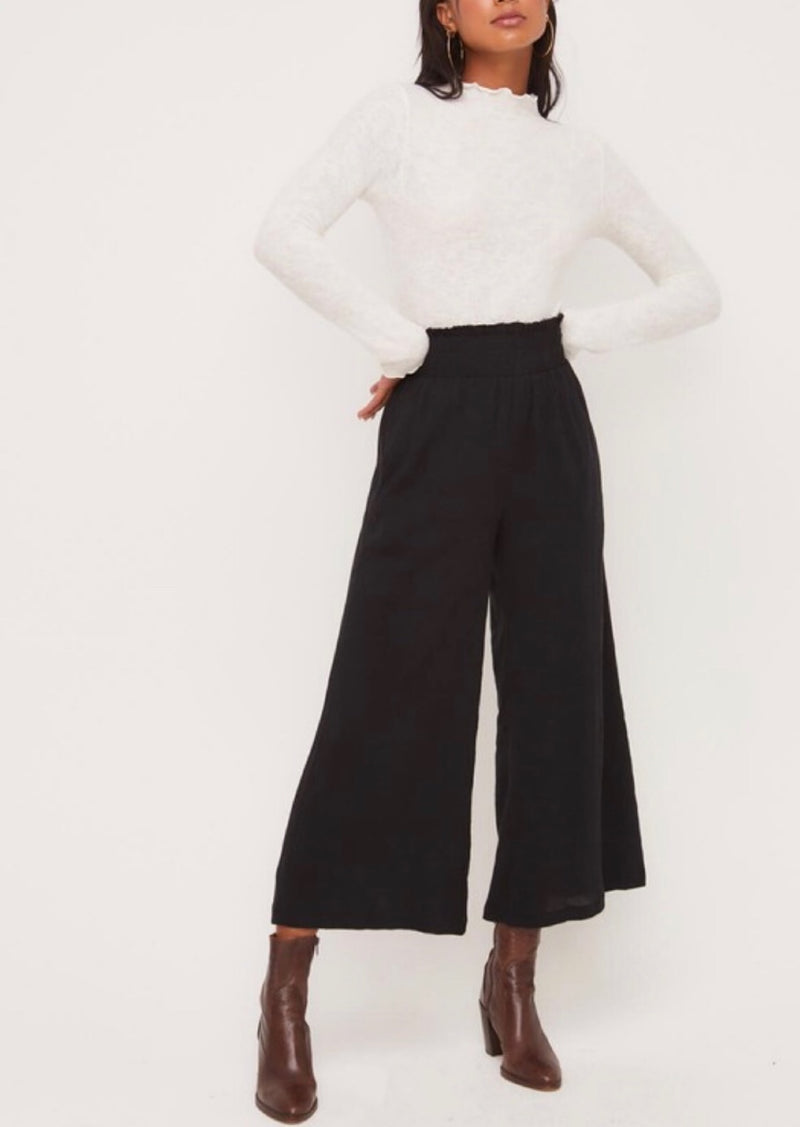Parker High Waisted Cropped Wide Leg Pants