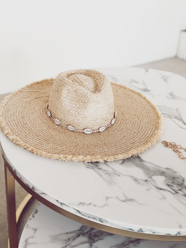 Jacque Sea Shell Straw Hat - Natural
