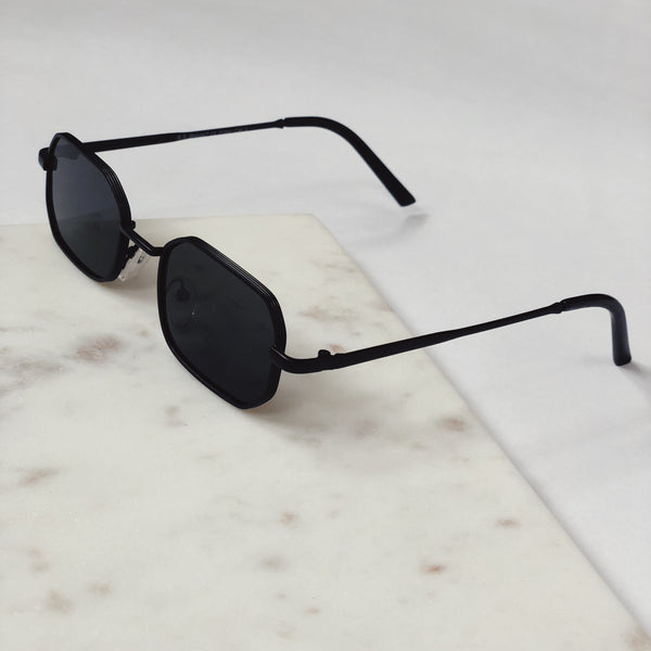 Piper Matte Black Slim Square Sunglasses by AJ Morgan-sunnies-aj morgan-AMQN Boutique