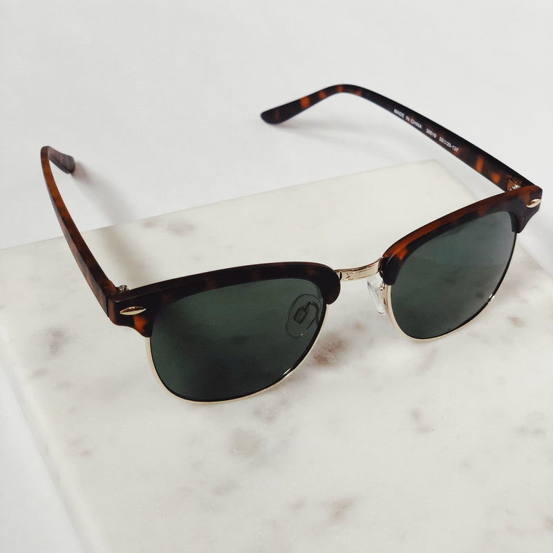 Gabby Matte Rust Brown Tortoise Retro Sunglasses by AJ Morgan - amannequin - amannequin