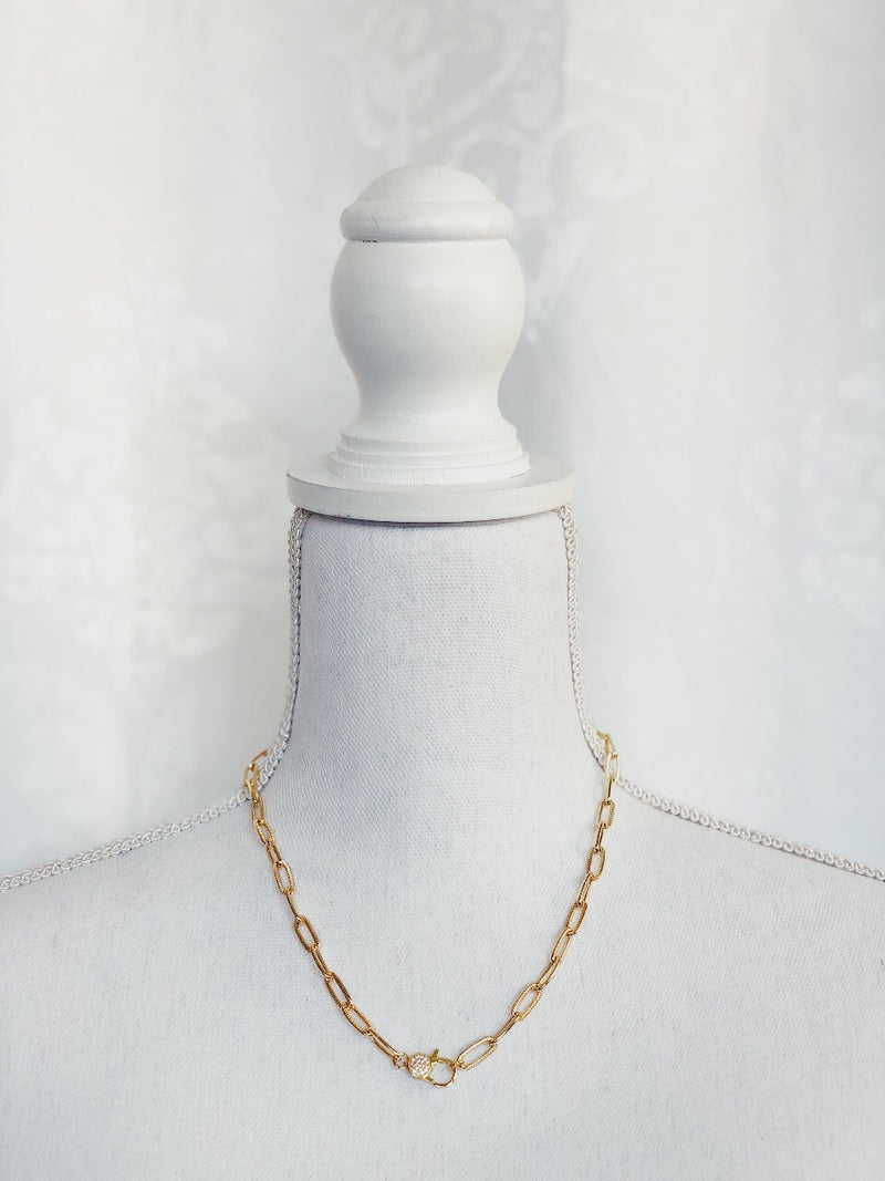 Celia Chain Necklace - Gold - amannequin - amannequin