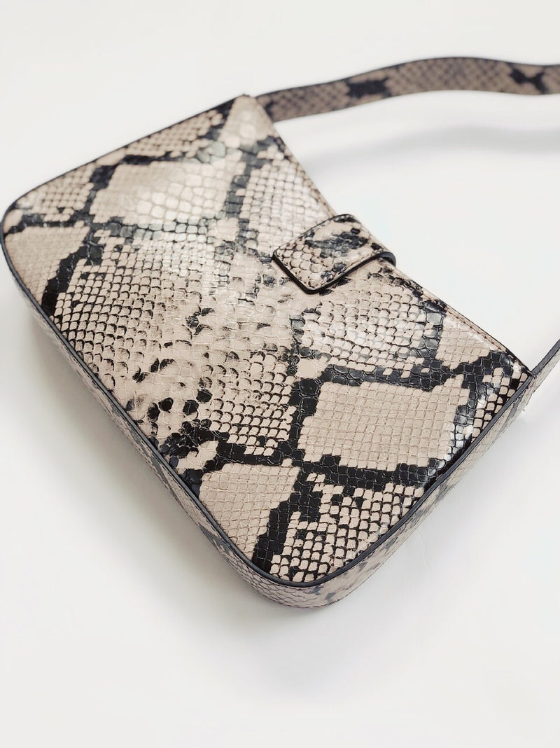 Gabriel Vegan Snakeskin Shoulder Bag by Street Level - Mauve - amannequin - amannequin