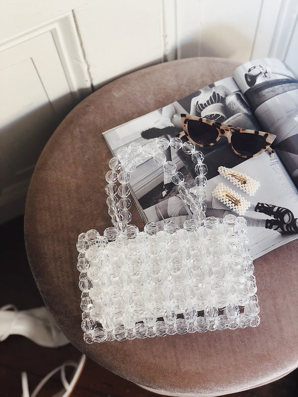Thora Clear Beaded Bag by Street Level - amannequin - amannequin