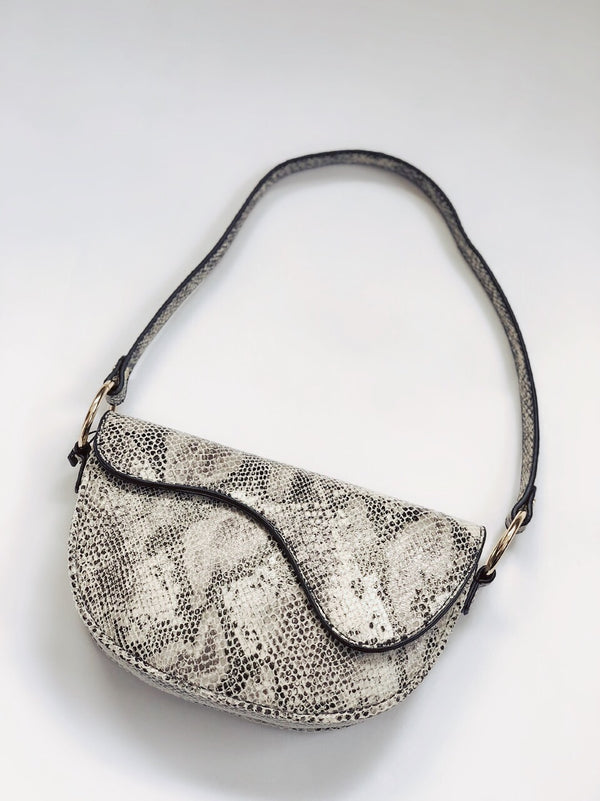 Lea Snakeskin Saddle Bag by Street Level-Handbag-street level-AMQN Boutique