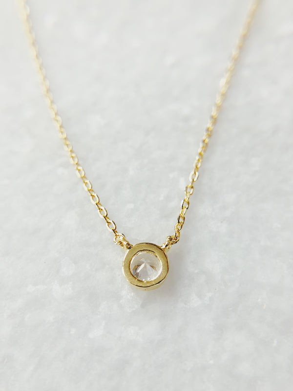 Dora Gold CZ Sterling Silver Necklace - amannequin - amannequin