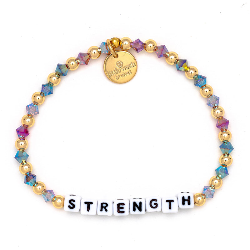 Strength Gold-Filled & Crystal Bracelet - Little Words Project