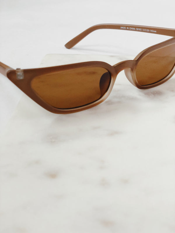 Royale Matte Brown Cat Eye Sunglasses by AJ Morgan - amannequin - amannequin