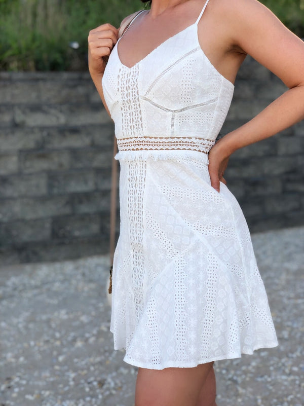 Summer Nights White Lace Dress-dress-Saints+ Secrets-AMQN Boutique