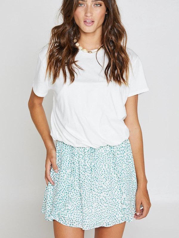 Easy Going White Cropped Tee - Sadie & Sage