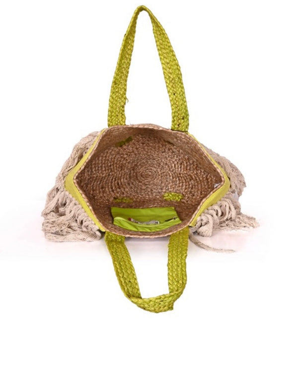 Cove Yellow Jute Tote