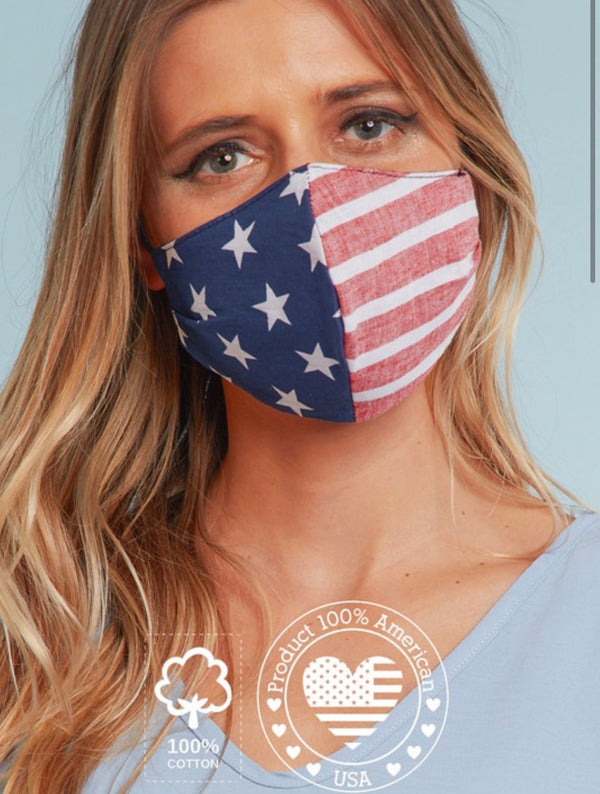 The Patriot American Flag Mask | Womens | Fashion Masks
