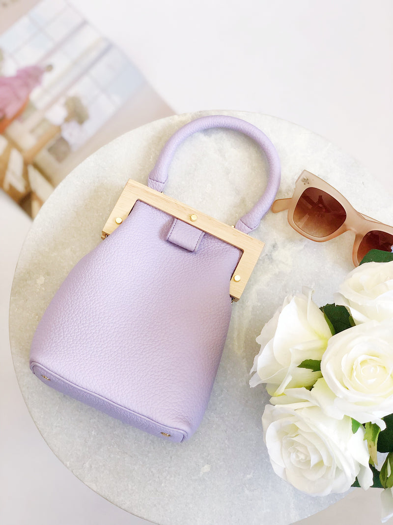 Amelia Lilac Top Handle Bag by Street Level - amannequin - amannequin