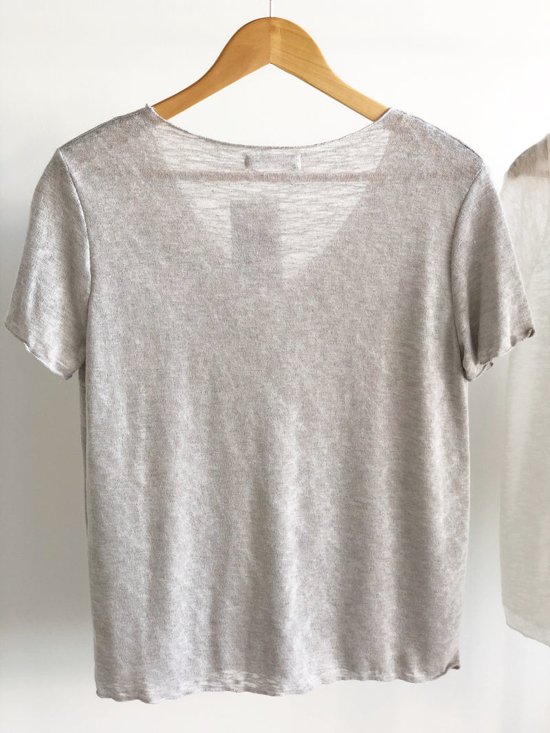 Lucie Slub Short Sleeve Scoop Neck Tee