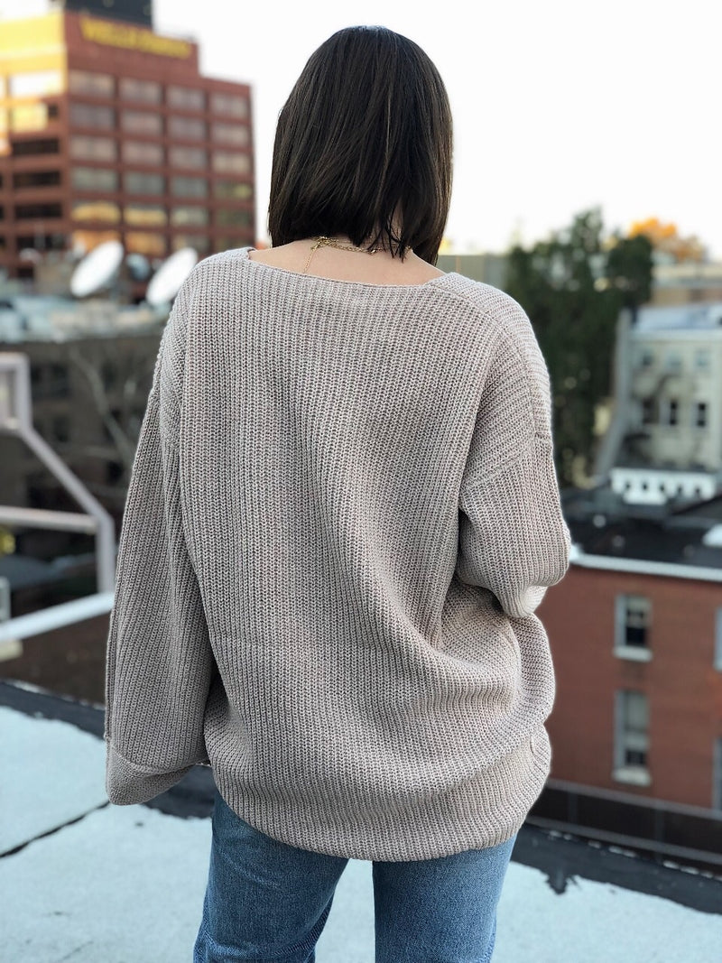 Morgan Mocha Oversized Slouchy Sweater - amannequin - amannequin