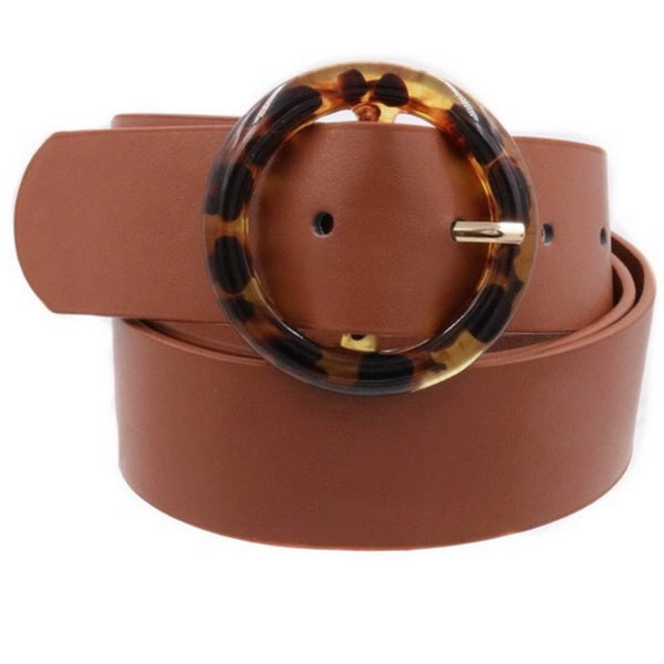 Bedford Brown + Tortoise O Ring Buckle Belt-Belt-art box-AMQN Boutique