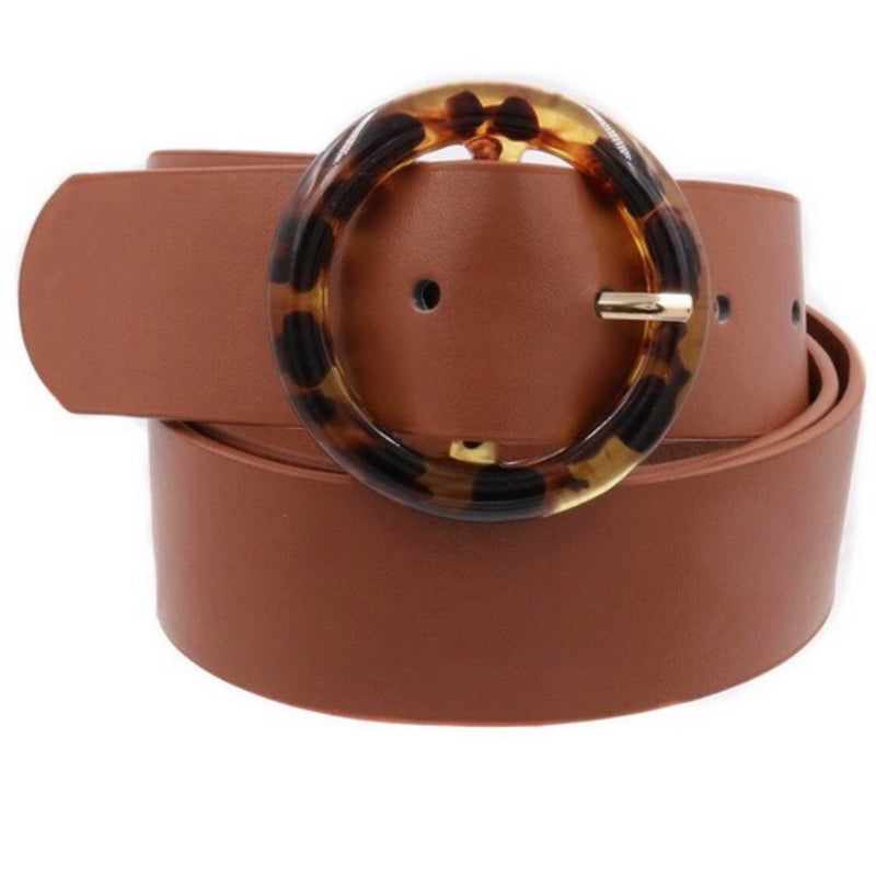 Bedford Brown + Tortoise O Ring Buckle Belt - amannequin - amannequin
