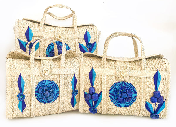 Acapulco Palm Beach Bag Tote - Blue
