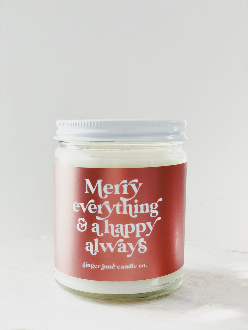 Ginger June Candle Co. - Merry Everything & A Happy Always • LARGE FRASIER FIR CANDLE