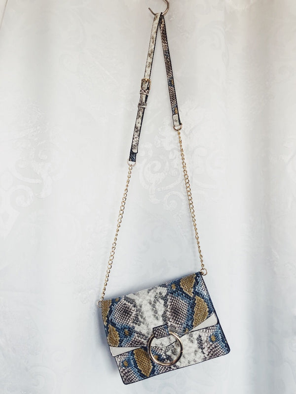 Elia Blue Mutli Snakeskin Crossbody Bag-Handbag-urban expressions-AMQN Boutique