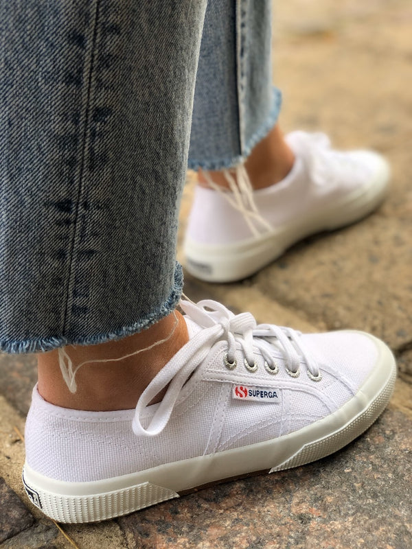 Superga Cotu Classic 2750 White Canvas Sneakers