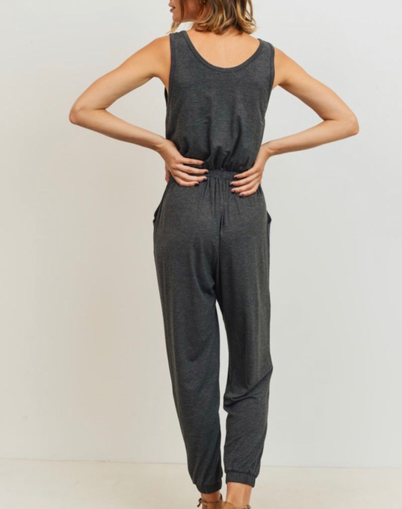 Naomi Drawstring Pocketed Jumpsuit