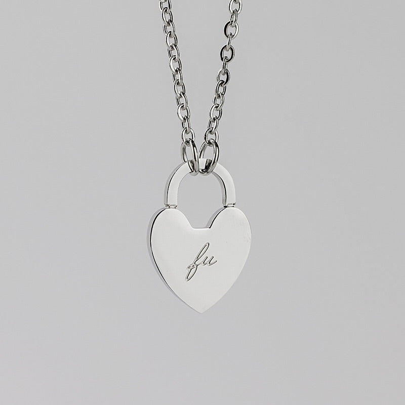 FU Heart Necklace - By Amannequin - amannequin - amannequin