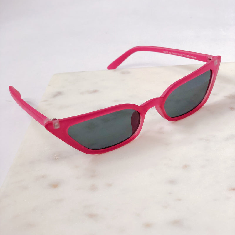Royale Matte Pink Cat Eye Sunglasses by AJ Morgan - amannequin - amannequin