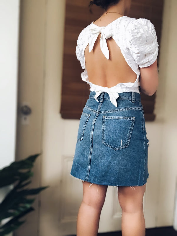 Free People Hallie Denim Skirt-bottoms-Free People-AMQN Boutique