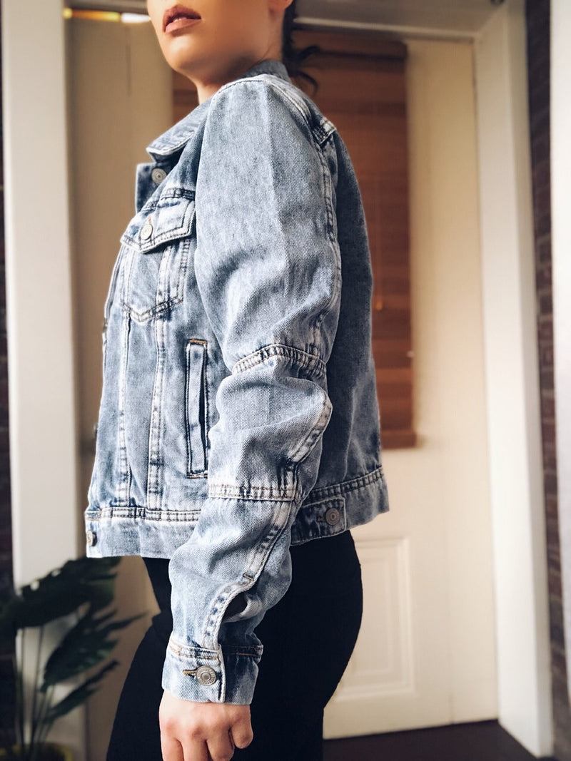 Free People Rumors Denim Jacket - amannequin - amannequin