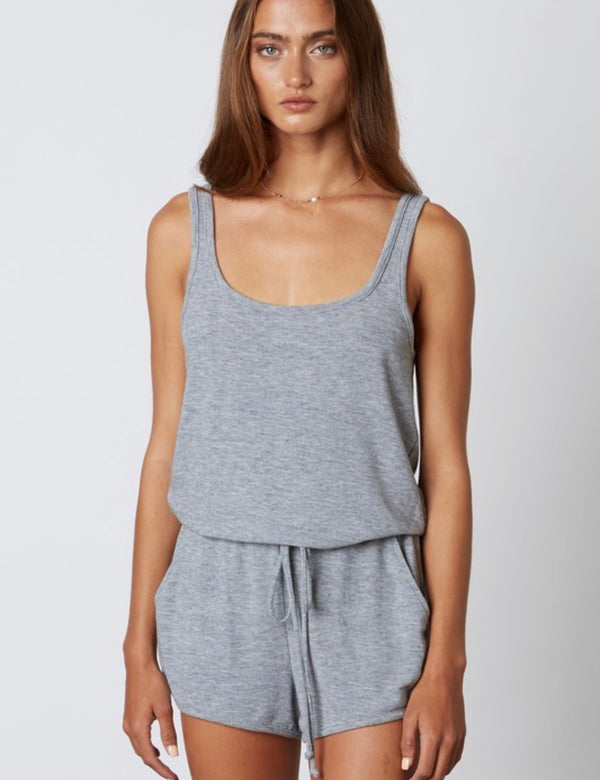 Diana Knit Lounge Romper - Gray