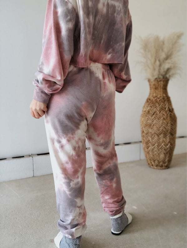 Deniz Tie Dye Lounge Set | Pink